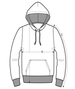 Maatoverzicht hoodie