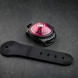 Oribiloc safety light for dogs in color pink