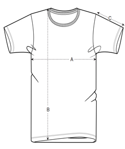 Size Chart Men T-Shirts
