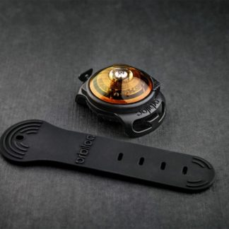 Orbiloc safety light for dogs in color amber