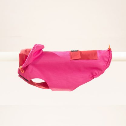 Raincoat for dogs in pink and red