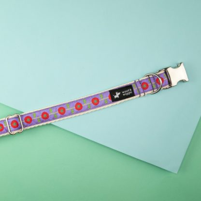 Dog collar with abstract pattern design