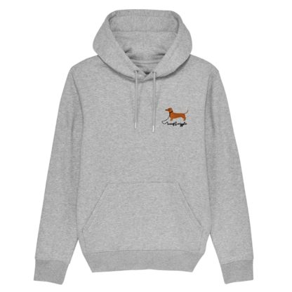 woof & wiggle Dackel Stick Hooded Sweater