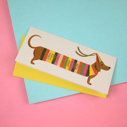 Geburtstagskarte Dackel