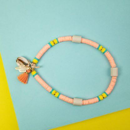 Katsuki dog necklace against ticks in salmon