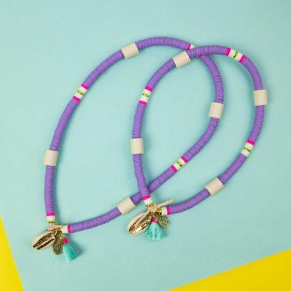 Katsuki dog necklace against ticks in purple