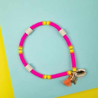 Katsuki dog necklace against ticks in pink