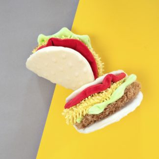 Taco dog toy