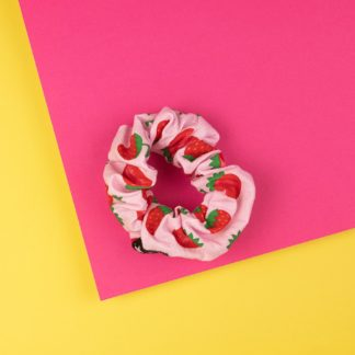 Elastico per capelli Scrunchie Strawberry