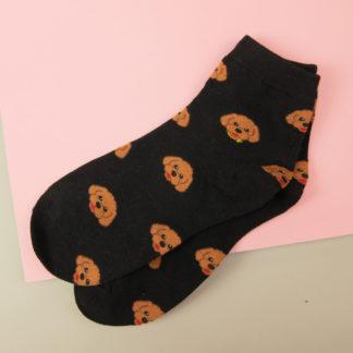 Socken mit Pudelmotiv