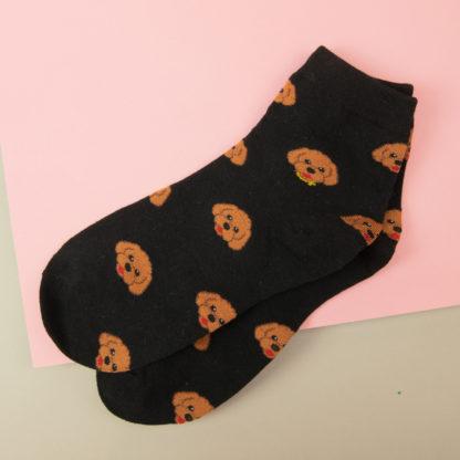 Poodle motif socks
