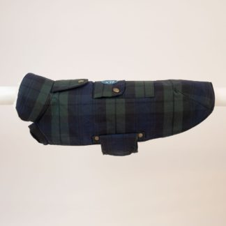 woof & wiggle Tartan Winter Parka for dogs