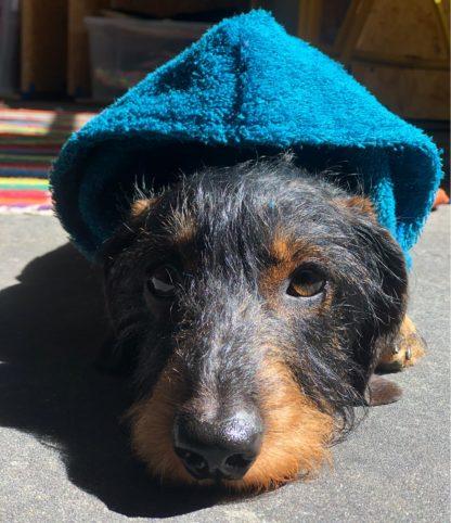 Droge poncho badjas voor honden