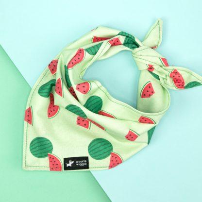 Hundehalstuch mit Melonen Muster