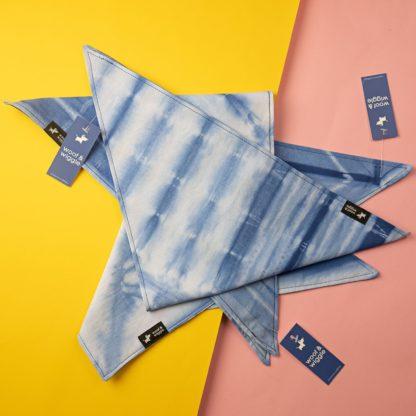 "Dog bandana in batik color ""Ocean"""