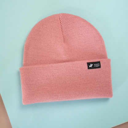 Dog walk beanie color rosé