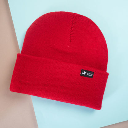 Dog walk beanie color red