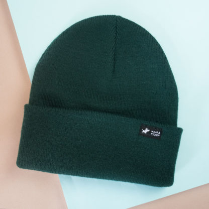 Dog Walk Beanie Kleur Bottle Green