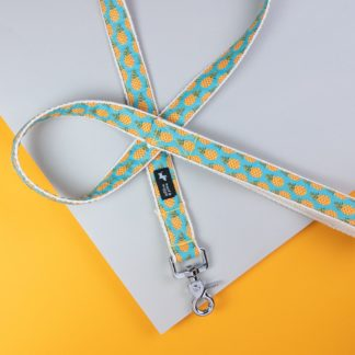 Dog leash with pineapple motif