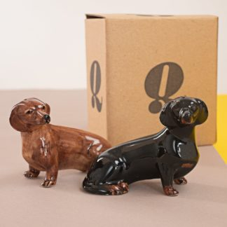 Salt and pepper shakers in shape of dachshunds