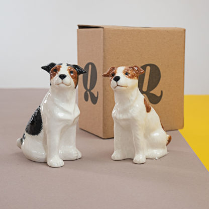 Salt and pepper shakers in shape of jack russell terriers