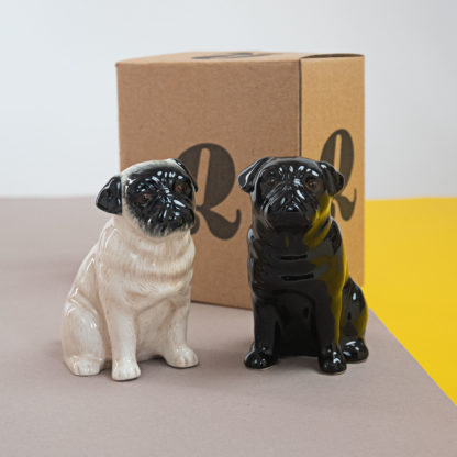 Salt and pepper shakers in shape of pugs