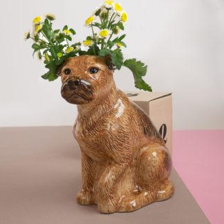Vase in shape of a terrier